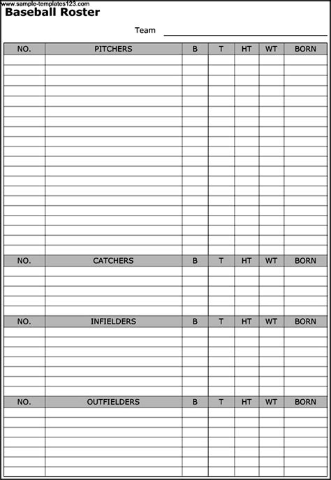track roster template template introduction to software project management free