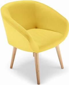 Fauteuil Scandinave Jaune : fauteuil scandinave jaune fanica ~ Melissatoandfro.com Idées de Décoration