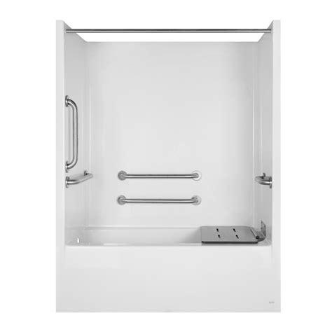 Aqua Glass Tub Shower by Shop Aqua Glass 79 1 4 In H X 32 1 8 In W X 60 In L