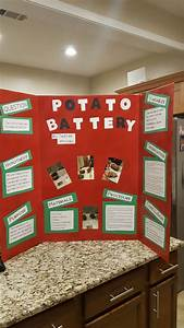 Potato Battery Science Fair Project Board