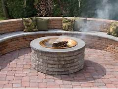Fossill Stone Random Stone Brown Square Fire Pit KitRBSFP  The Home Depot