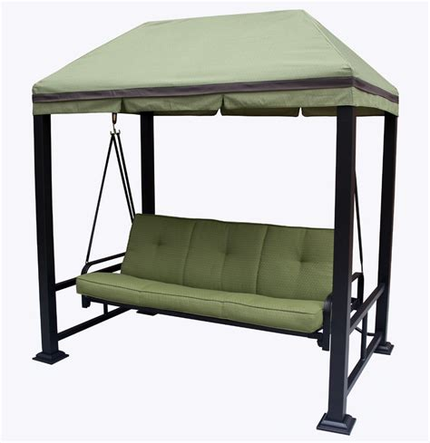 3 Person Porch Swing by Darby Home Co Trevino 3 Person Porch Swing Metal Frame