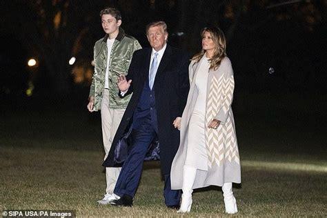 trump barron melania donald dad his year towers bunker marah met balance he lady nuklir aman konon gedung putih sembunyi