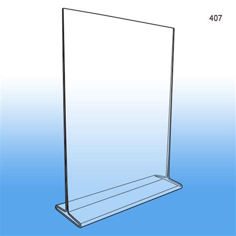 8 5 x 11 acrylic sign holder for table tops 8 5 quot x 11 quot t style acrylic sign holder letterhead sized
