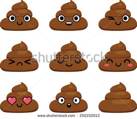 emoji toilet paper whatsapp set cut poop emoticon smileys isolated stock vector
