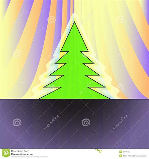 silueta de árbol de navidad silueta 225 rbol de navidad en la cortina anaranjada