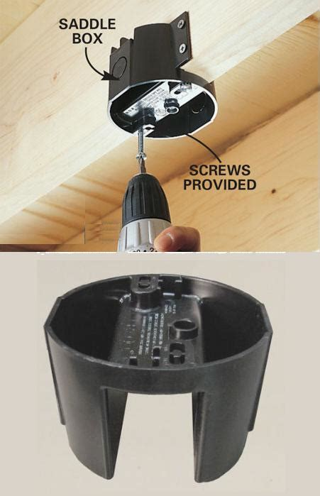 how to install a ceiling fan box without attic access ceiling fan junction box light and aerate your house at
