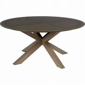 Table Ronde 8 Personnes : table duba ronde 8 personnes aluminium et verre hesp ride ~ Teatrodelosmanantiales.com Idées de Décoration