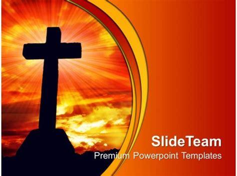 jesus christ god powerpoint templates cross religion