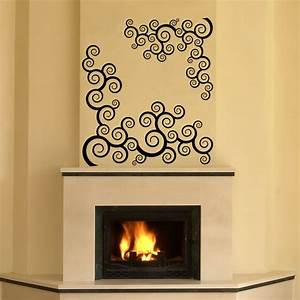 Fireplace wall decal roselawnlutheran for Fireplace wall decal