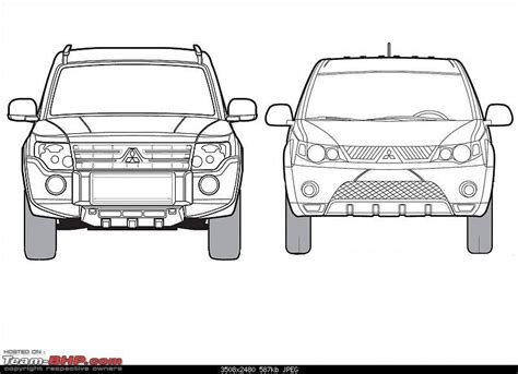 Blueprints / Line-drawings Of Cars