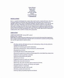 6 cosmetology resume templates pdf doc free With sample resume for esthetician student