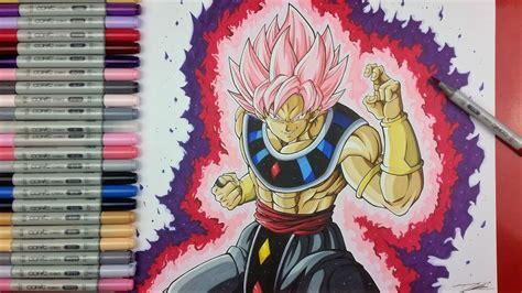 drawing goku black ssj rose god  destruction tolgart