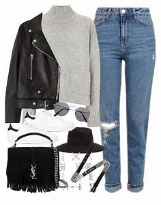 U0026quot;Outfit with mom jeansu0026quot; by ferned liked on Polyvore featuring Topshop Frame Denim Maison ...