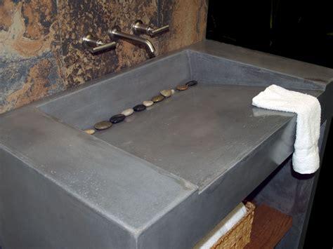 custom concrete vanity  sink  coastal concrete design