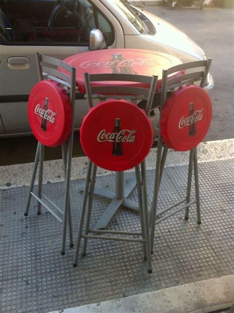 Sgabelli Coca Cola by Tavolino Da Bar Vintage Coca Cola Con 3 Sgabelli Anni 70