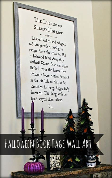 hometalk quot sleepy hollow quot book page wall art