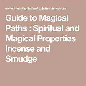Guide To Magical Paths   Spiritual And Magical Properties