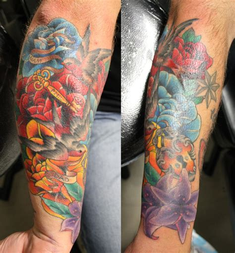 cover  tattoo  forearm  eddy lou addicted  ink