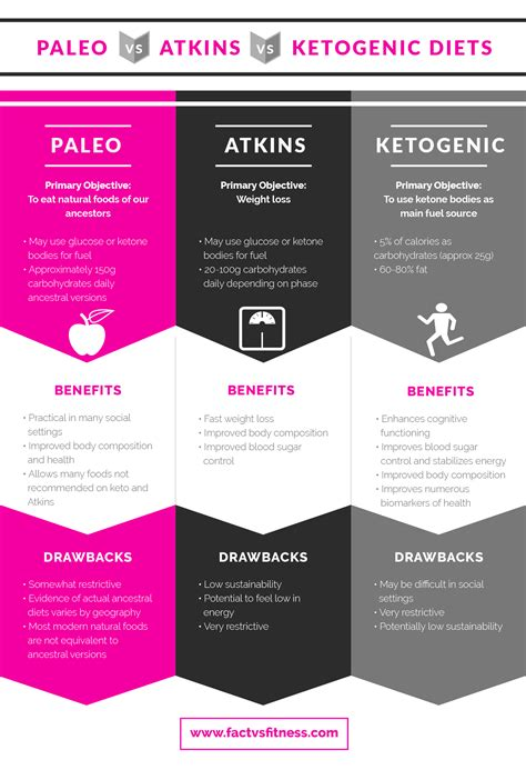 paleo  atkins  keto diets comparison ketogenic diet