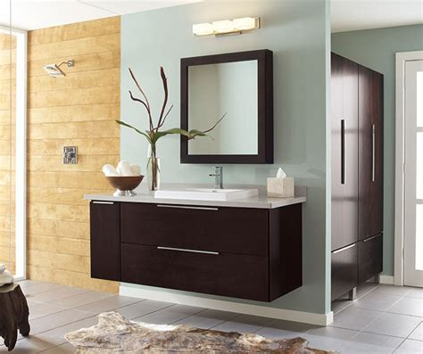 Wall Mounted Bathroom Vanity in Dark Cherry   Decora