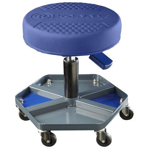 lowes workshop shop kobalt adjustable shop stool at lowes regarding garage stools with wheels scitechinfo