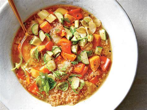 cuisine quinoa veggie quinoa soup recipe cooking light