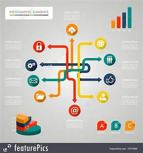 Templates  Infographic Diagram Icons Network