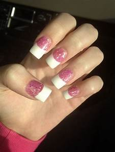 Acrylic nails, Glitter, Pink, French tip   MY NAILS ...