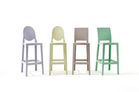 kartell one more stool square back 75cm 5896