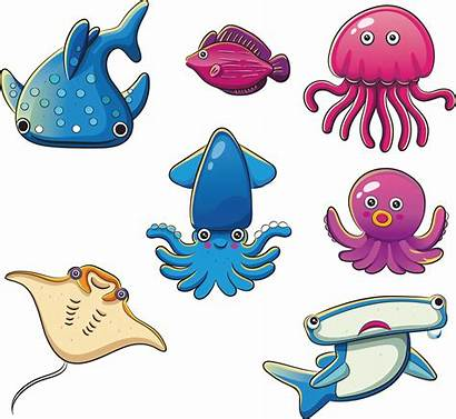Ocean Clipart Fish Octopus Animal Seabed Benthic