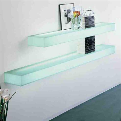 Dining Room Lighting Ideas - floating glass shelves wall mount decor ideasdecor ideas