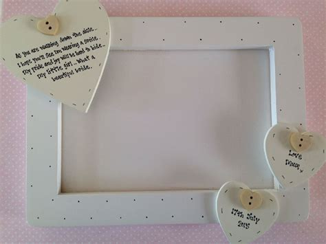 shabby chic personalised shabby personalised chic wedding gift for bride from her mum photo frame
