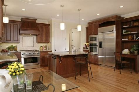 kitchens with cherry cabinets and wood floors kitchen with cherry cabinets granite counter tops and 9853