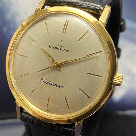 """Eterna Matic Vintage Centenaire Automatic Gold 18K """"NO"""