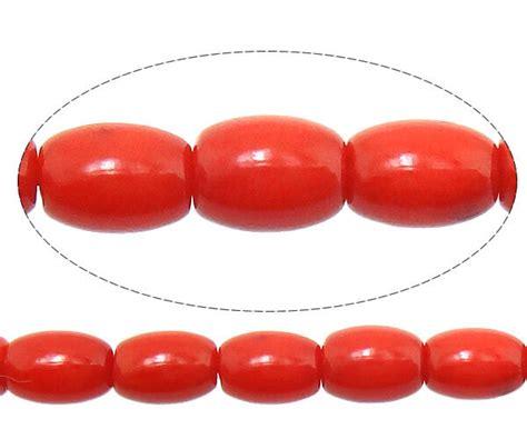 natuerliche rote koralle natur edelstein perlen oval mm
