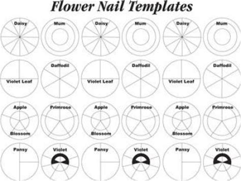 Www Wiltonprint Templates by Wilton Flower Nail Templates Cake Decorating