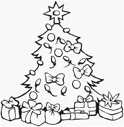 Coloring Christmas Tree Pages Ornaments Presents Gifts