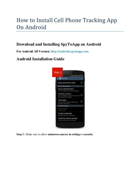 how to track an android phone how to install cell phone tracking app on android