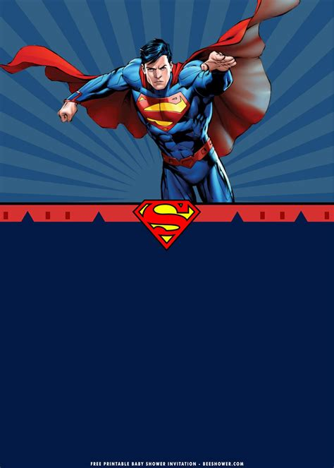 printable superman birthday invitation templates