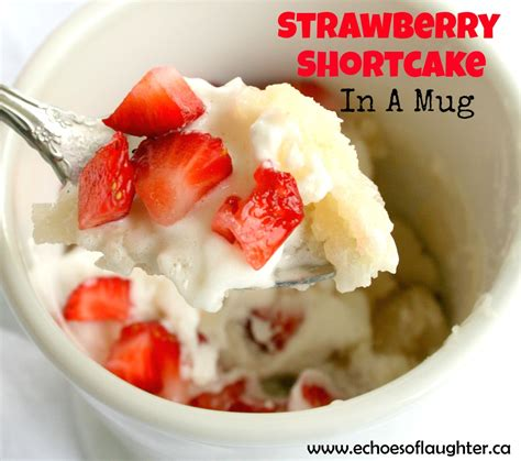 desserts made in a mug strawberry shortcake in a mug recipe