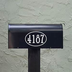 gandalf traditional style mailbox numbers with border With mailbox letters numbers