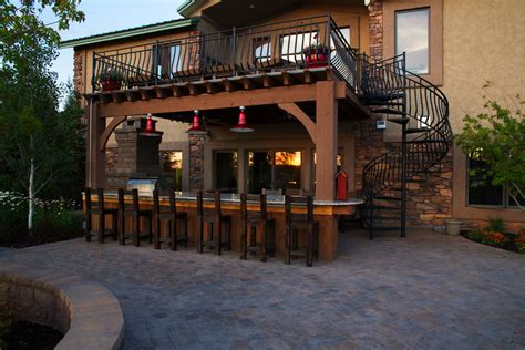 outdoor patio bar designs interior exterior doors