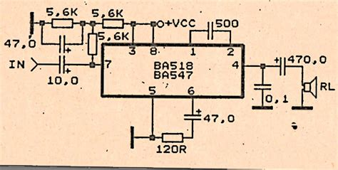Low Voltage Amplifier Circuit With Subwoofer