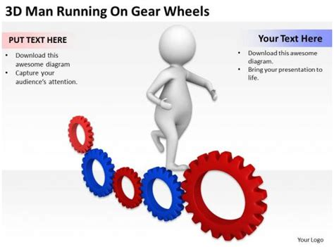 man running  gear wheels  graphics icons