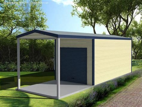 Port Side Garage by Garage With Side Lean To Roof And Door Pacific