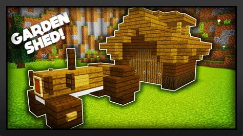 minecraft shed minecraft how to make a garden shed