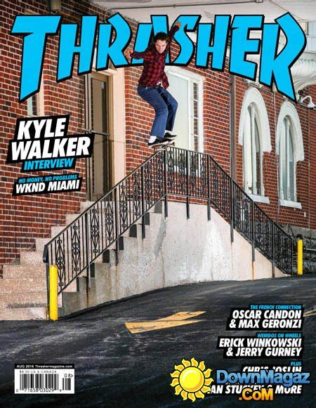 thrasher skateboard august    magazines