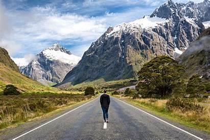 Zealand Scenic Roads Road Drive Milford Nz
