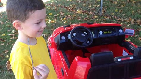 power wheels ford   raptor ride  truck reveal youtube